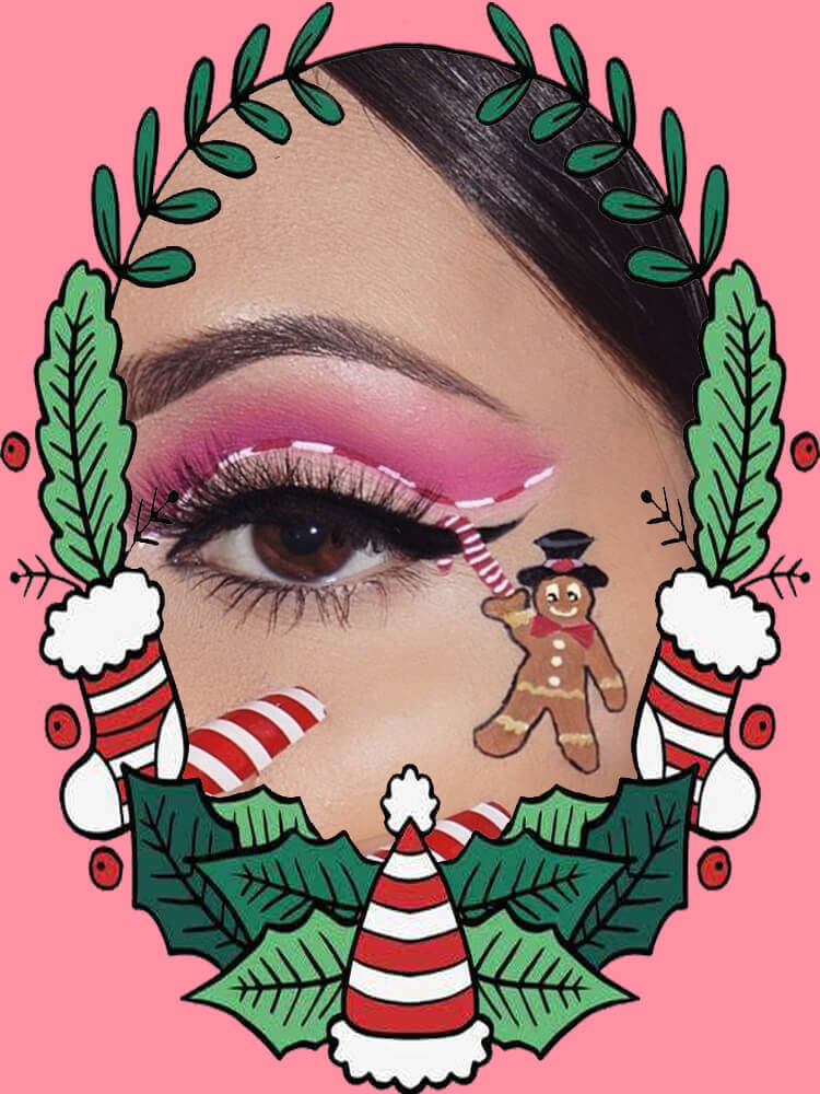 Christmas Eyeshadow Makeup 1