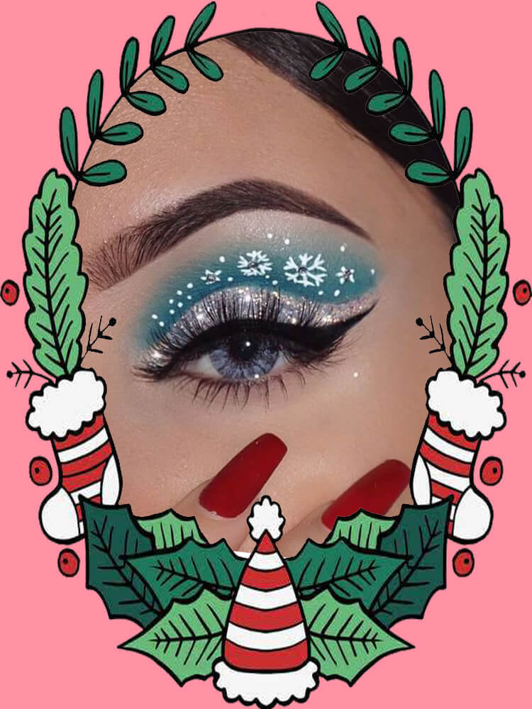 Christmas Eyeshadow Makeup 11