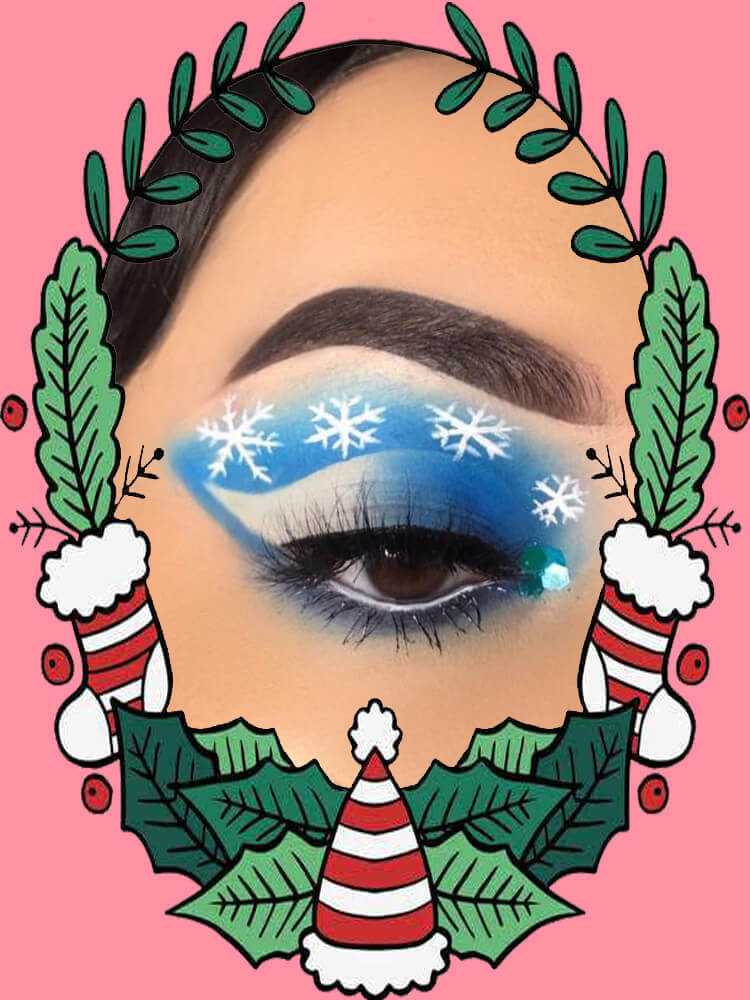 Christmas Eyeshadow Makeup 12
