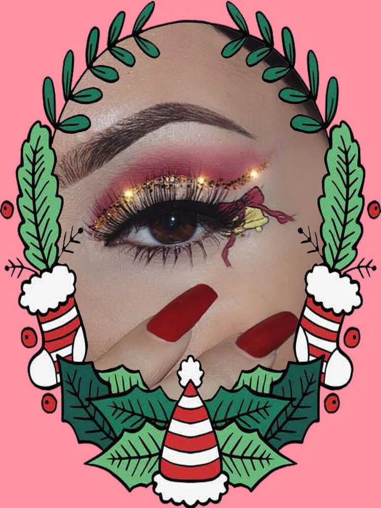 Christmas Eyeshadow Makeup 15