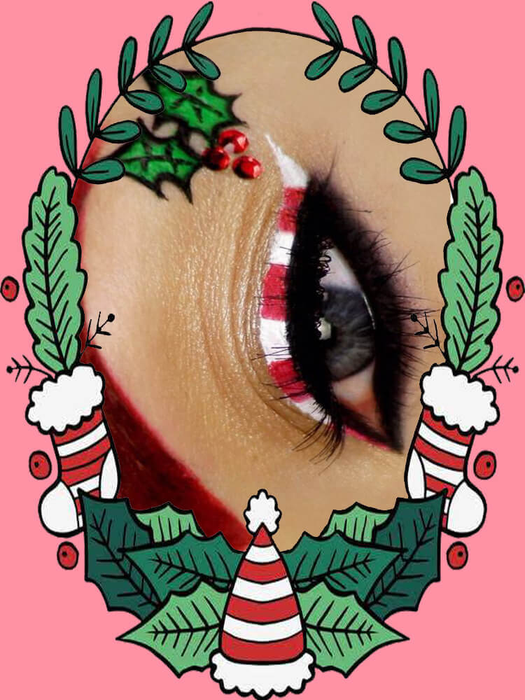 Christmas Eyeshadow Makeup 26