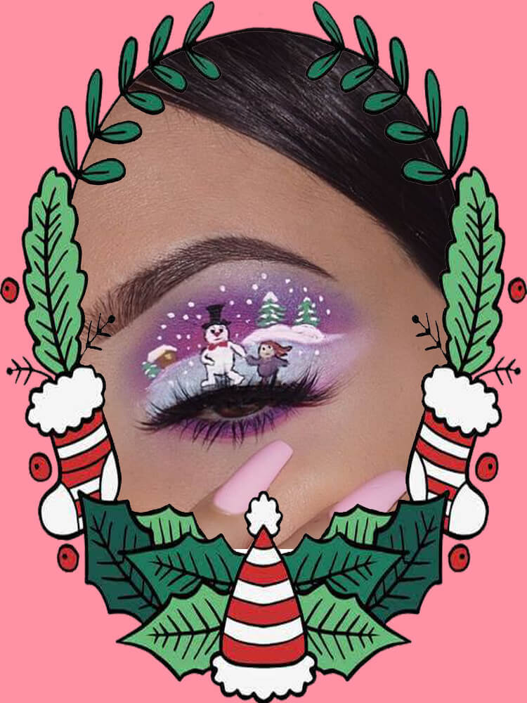Christmas Eyeshadow Makeup 31