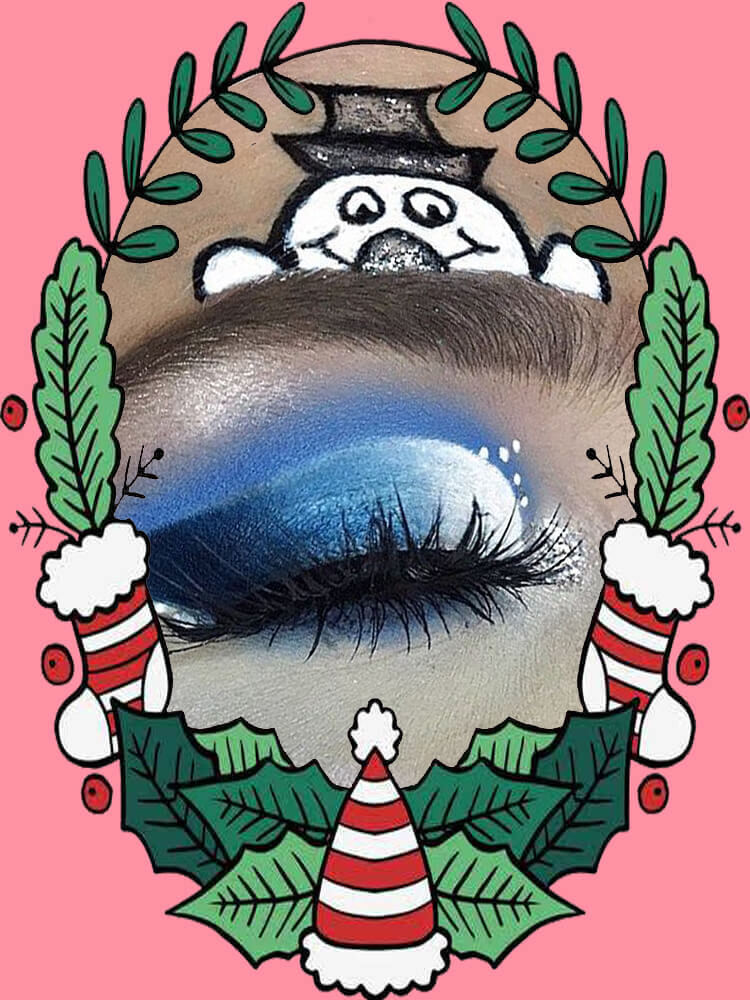 Christmas Eyeshadow Makeup 34
