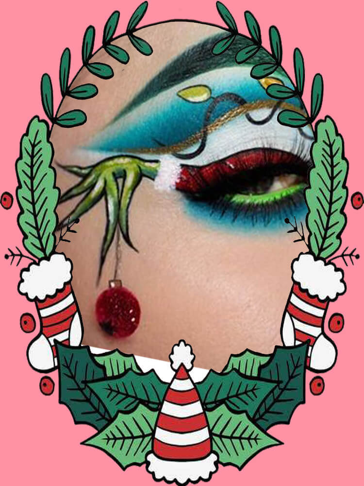 Christmas Eyeshadow Makeup 4