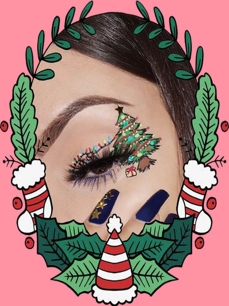 Christmas Eyeshadow Makeup 7