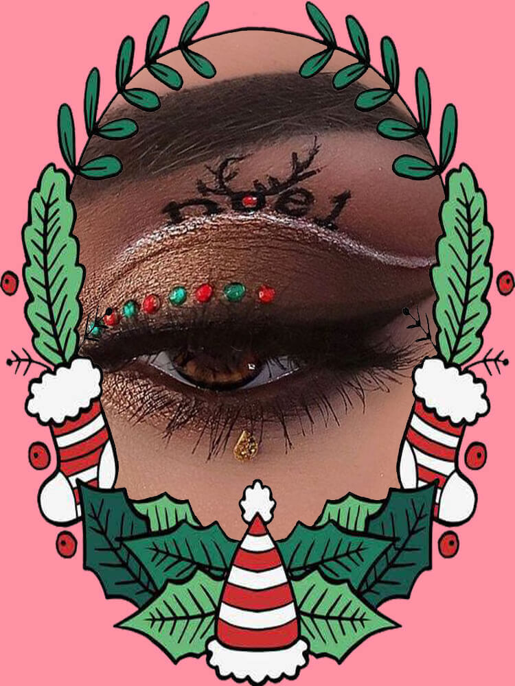 Christmas Eyeshadow Makeup 9