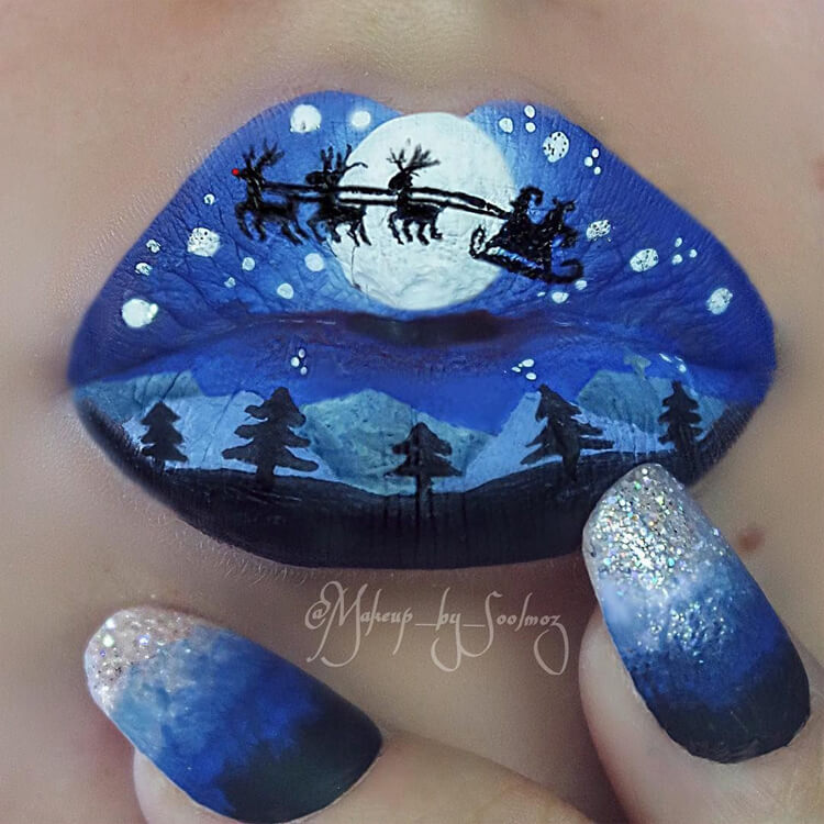 Christmas Lip Makeup 6