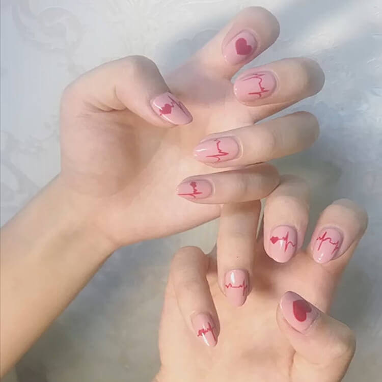 Valentine's Day Hearts Nail Designs 1