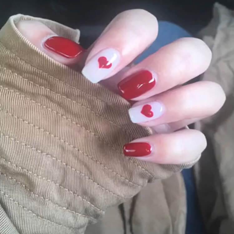 Valentine's Day Hearts Nail Designs 3