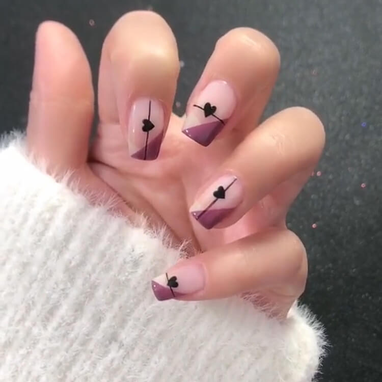 Valentine's Day Hearts Nail Designs 8