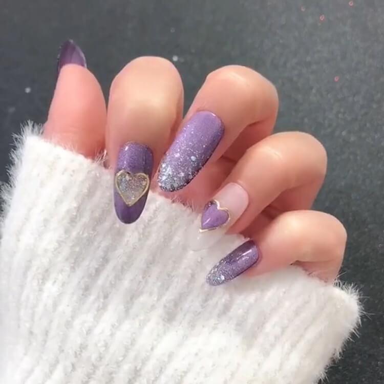 Valentine's Day Hearts Nail Designs 9